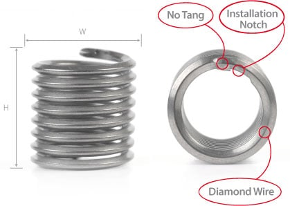 Tangless Coil Thread Inserts | Bay Supply