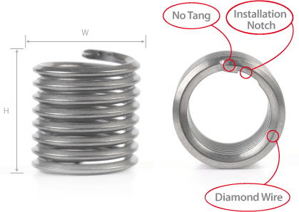 Tangless Coil Thread Inserts   Bay Supply