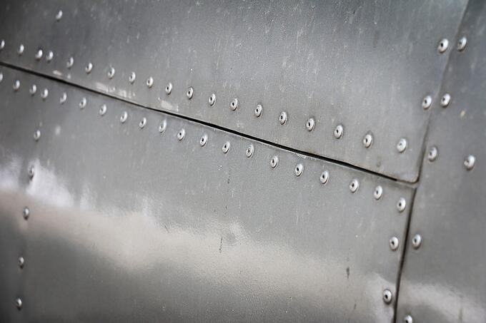Example of blind rivets on sheet metal